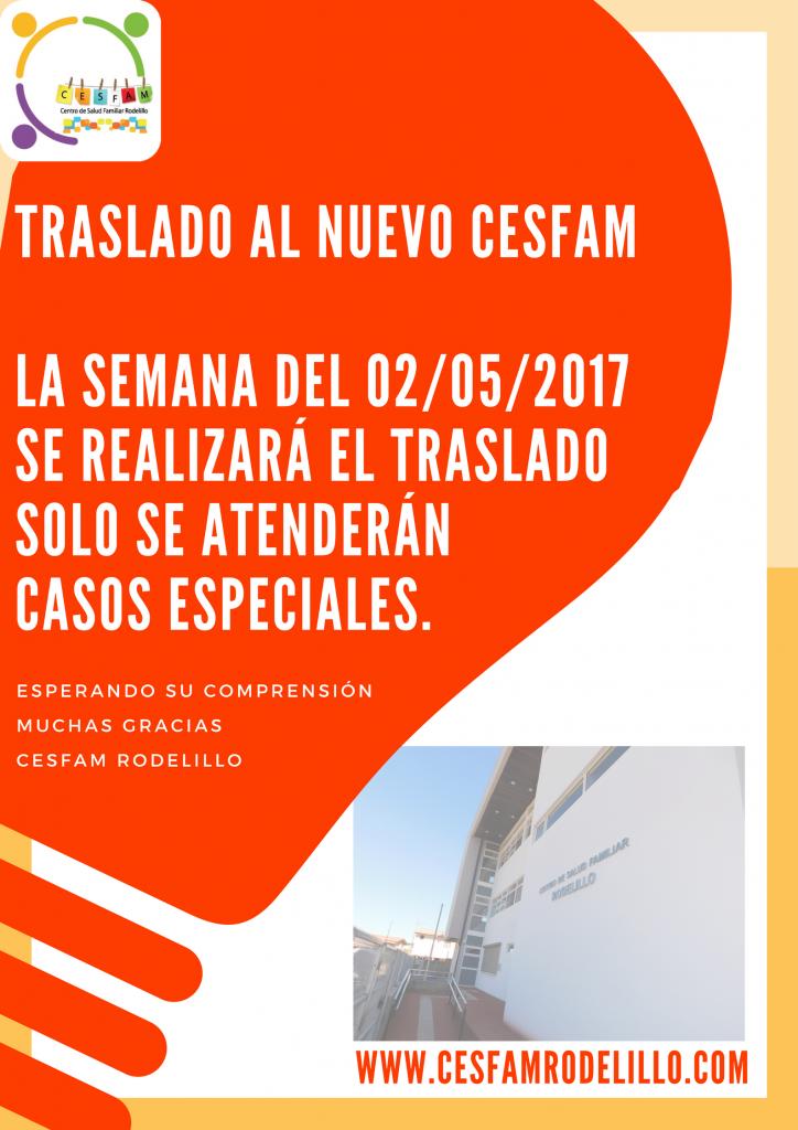 Traslado al nuevo CESFAM Rodelillo